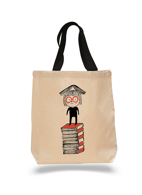 Red Book Reader- Canvas Tote Bag