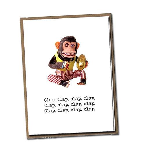 Clap, clap, clap, clap. Linen Series - Birthday Card