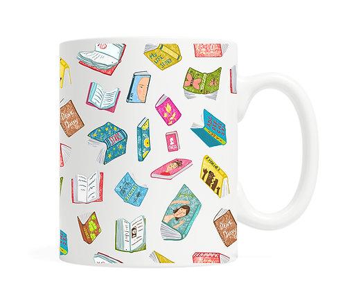 Floating Books- 11 ounce Ceramic Mug
