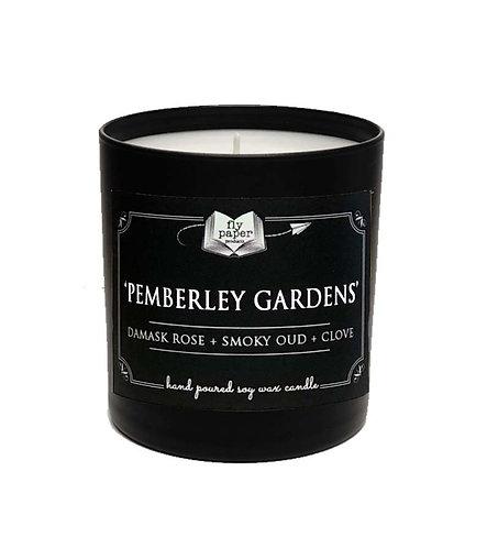 'Pemberley Gardens' 11 oz Black Matte Tumbler Soy Candle