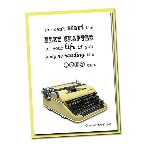 You can't start the next chapter of your life if ... - Blank Inside