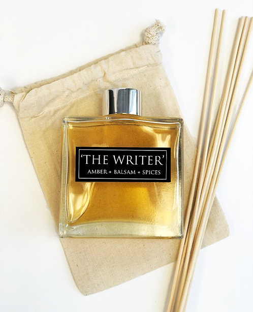 The Writer- 7oz Reed Diffuser -Amber + Balsam + Spices