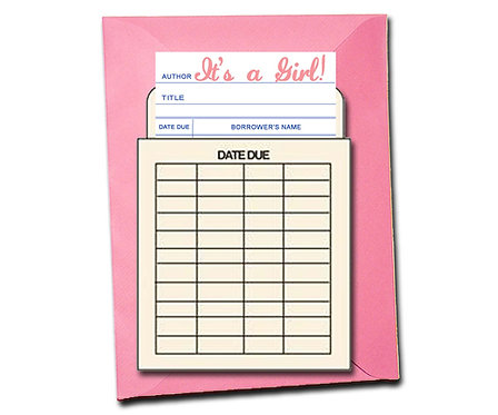 It's a Girl! - Book Pouch Card