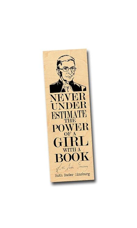 Ruth Bader Ginsburg Wooden Bookmark