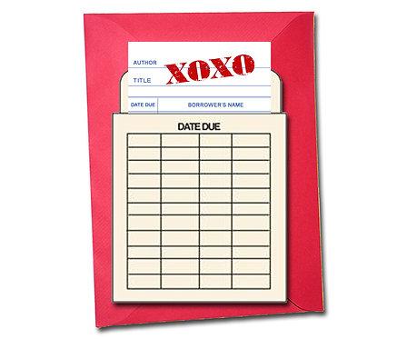 XOXO - Book Pouch Card