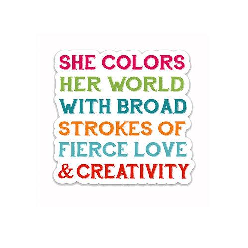 Fierce Love-Vinyl Sticker