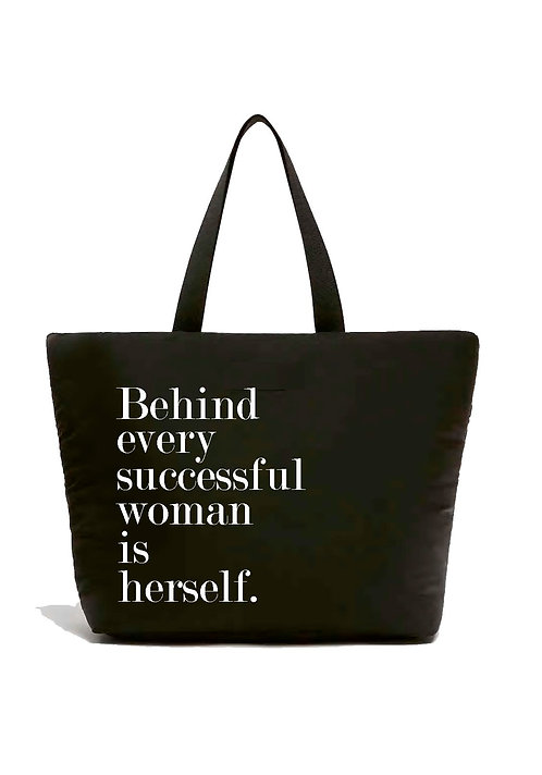 Behind Every Successful Woman is Herself Zippered Shopper 4 Pack $12.75 ea