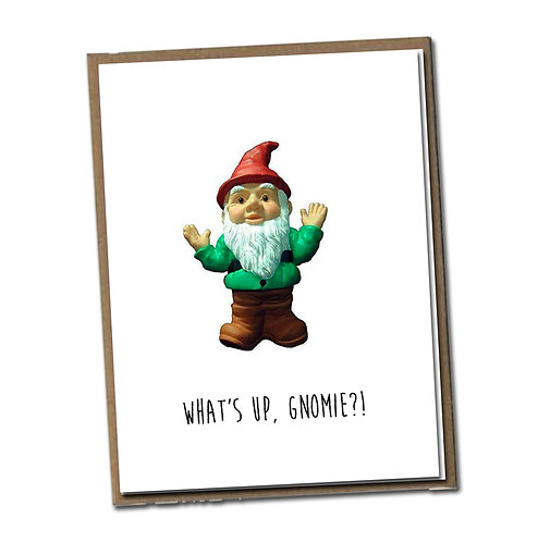 What's up, Gnomie?! Linen Series - Blank Inside