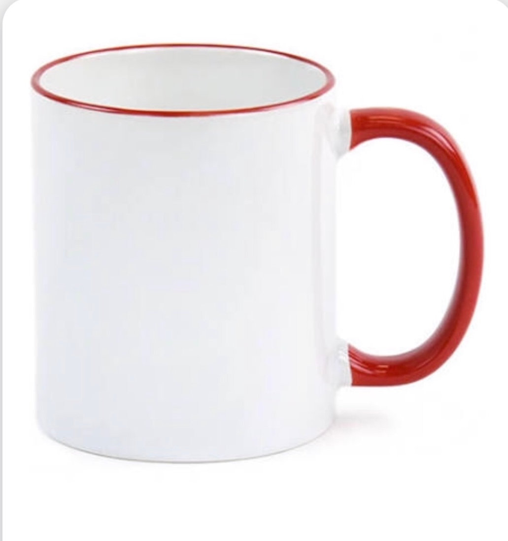 34 qty Sublimation Blank Red Handle Mug | flypaperproducts-1