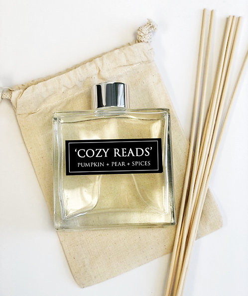 Cozy Reads 7oz Reed Diffuser -Pumpkin + Aujour Pears + Spices