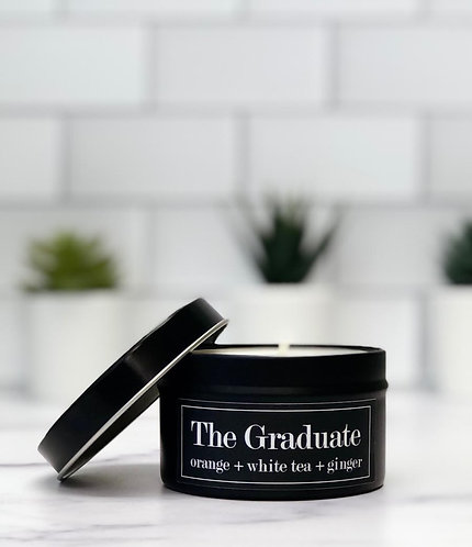 The Graduate 6 oz Literary Tin Soy Candle (Qty 2 @ $7.00ea)