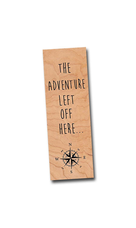 The adventure left off here- Wooden Cherry Bookmark