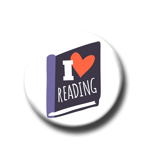 "I Love Reading- 1.25"" Pinback Button"