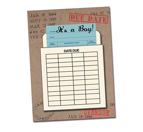 It's a Boy! Library Card Series - Congratulations