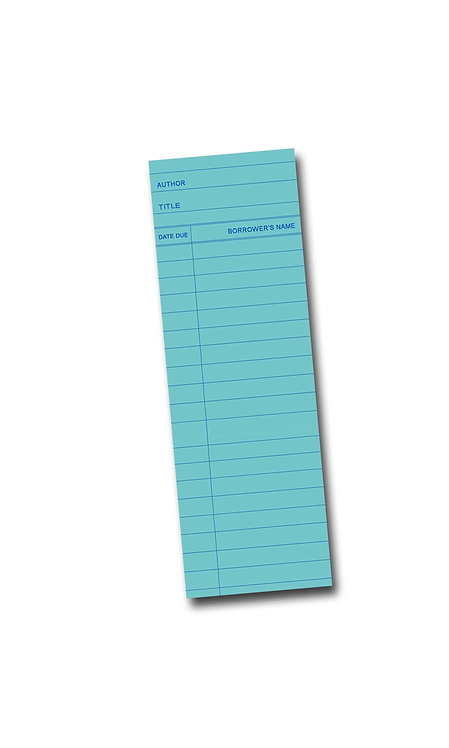 Library Book Card design - Blue Maple Wooden Bookmark