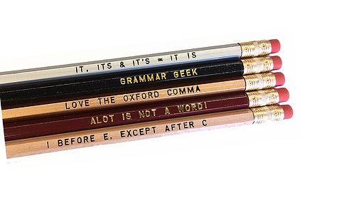 Assorted Grammar Pencils