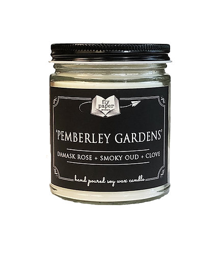 'Pemberley Gardens'-9 oz Literary Scented Soy Candle