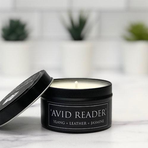 Avid Reader 6 oz Literary Tin Soy Candle (Qty 2 @ $7.00ea)