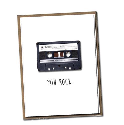 You rock.  Linen Series - Blank Inside