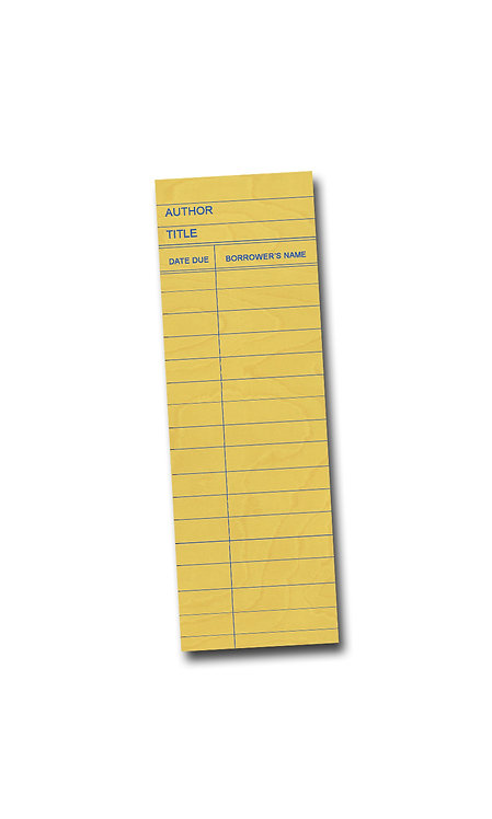 Library Book Card design - Yellow Maple Wooden Bookmark