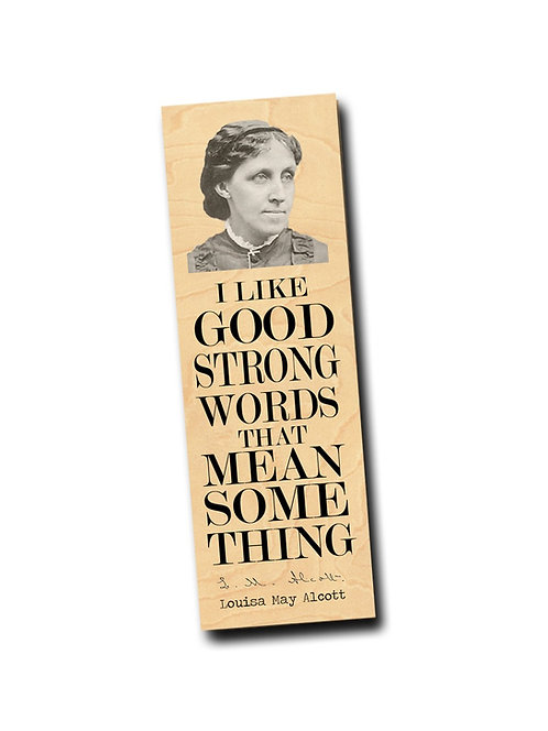 Louisa May Alocott- Wooden Bookmark
