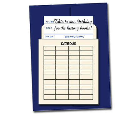 This is one birthday for the history books! - Book Pouch Card