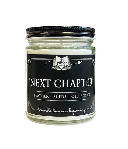 Next Chapter -9oz Glass Soy Candle