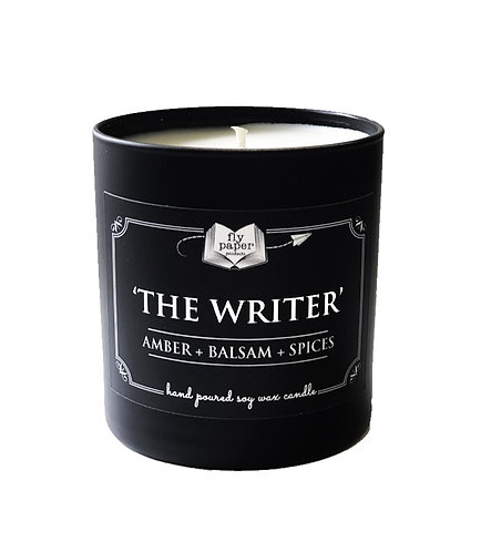 'The Writer' 11 oz Black Matte Tumbler Soy Candle
