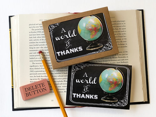 A World of Thanks - Boxed Set of 8 Thank You Note Cards