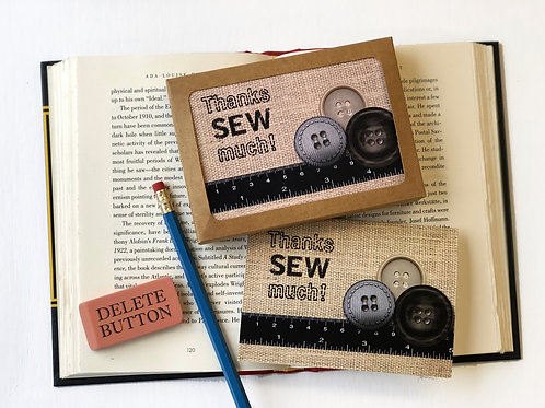 Thanks SEW much! - Boxed Set of 8 Thank You Note Cards