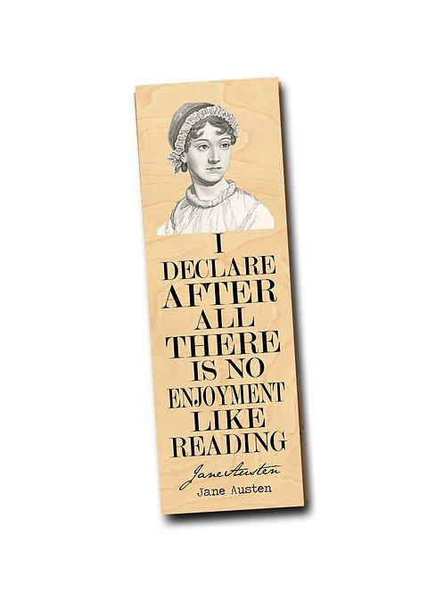 Jane Austen- Wooden Bookmark