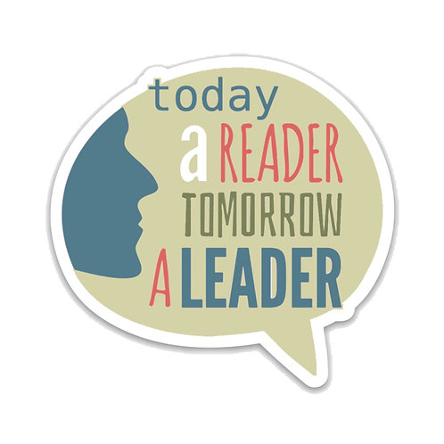 Today a Reader Tomorrow a Leader-Vinyl Sticker