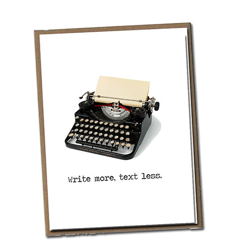 Write more. Text less. Linen Series - Blank Inside