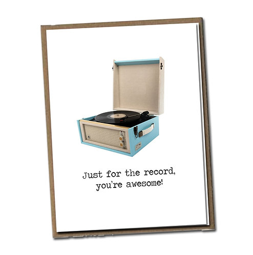 Just for the record, you're awesome! Linen Series - Blank Inside