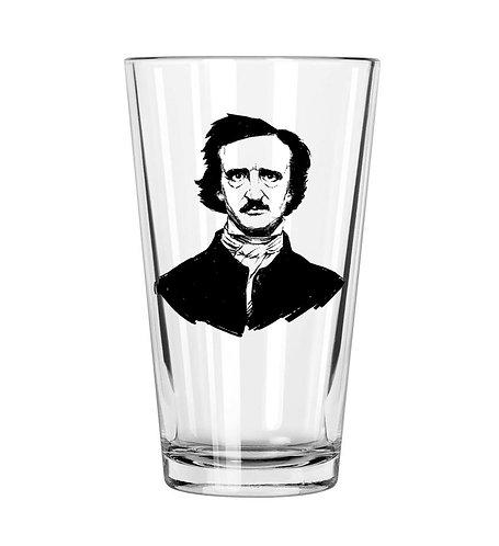Edgar Allen Poe Pint Glass