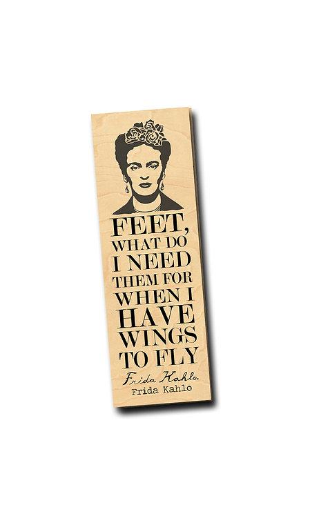 Frida Kahlo- Wooden Bookmark