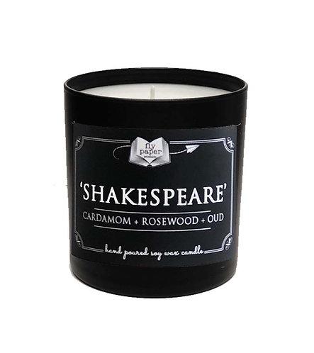 'Shakespeare' 11 oz Black Matte Tumbler Soy Candle