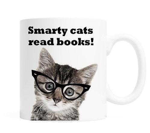 Smarty cats read books! 11 ounce Coffee Mug