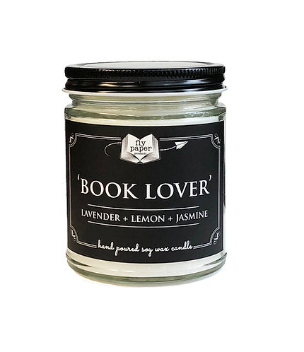 'Book Lover' 9 oz Literary Scented Soy Candle