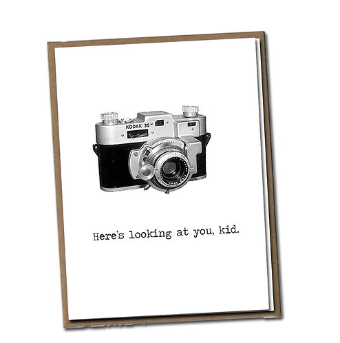 Here's looking at you, kid. Linen Series - Blank Inside