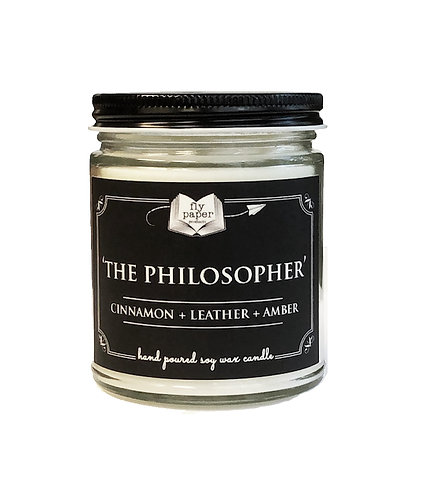 'The Philosopher' 9 oz Literary Scented Soy Candle