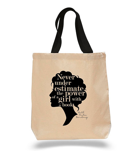 NEW! Power of a Girl Canvas Tote Bag 4 Pack $8.75 each