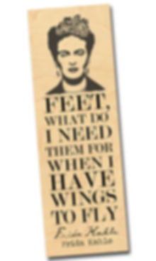 FBM-KAHLO LARGE-1.jpg Frida Kahlo, wod bookmark, book lover gifts, artist, literature, wings to fly