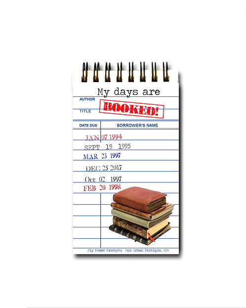 My Days are Booked Library Card Memo Pad - 30 White Pages