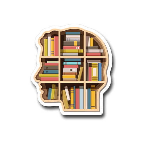 Book Brain -Vinyl Sticker