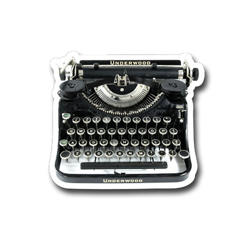 Vintage Underwood Typewriter-Vinyl Sticker