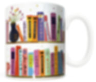 FMG-BOOKS-1.jpg Bookshelf Mug, Gifts for Book Lovers, Literary, Bibliphile, Reader, bookworm, librarian