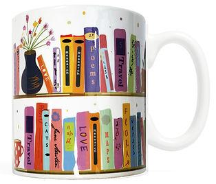 FMG-BOOKS-1.jpg Bookshelf Mug, Gifts for Book Lovers, Literary, Bibliphile, Reader, bookworm, librarian