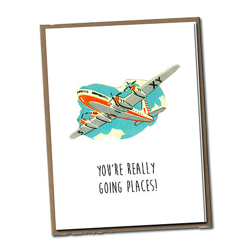 You're really going places! Linen Series - Blank Inside