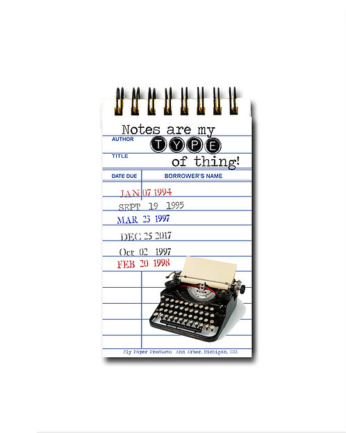 Notes are my type of thing! Memo Pad - 30 White Pages